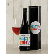 Boîte à vin personnalisée Brights Birthday