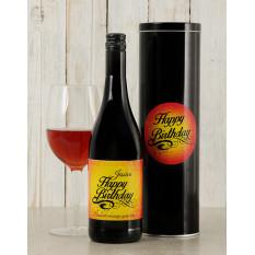 Boîte à vin personnalisée Birthday Glow