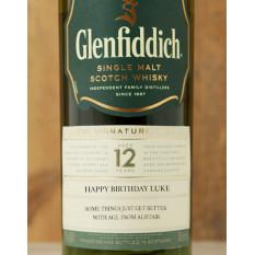 Glenfiddich 12 ans personnalisé (standard)