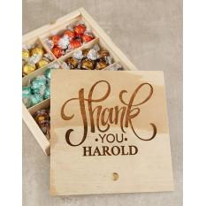 Merci Choc Treasure Box personnalisé