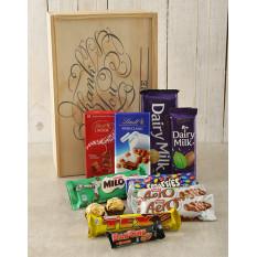 Caisse de chocolat personnalisée Merci