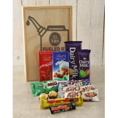 Personnalisé alimenté par caisse de chocolat