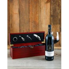 Caisse à vin en bois et accessoires