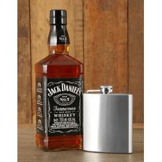 Panier de Jack Daniel's et Hip Flask