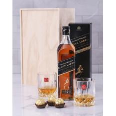 Caisse en verre à whisky et en cristal