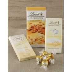 Corbeille Lindt Chocolat Blanc