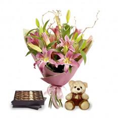 Bouquet préféré (4 lis)