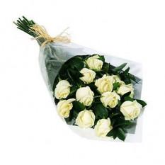 Bouquet Une douzaine de roses blanches - 1