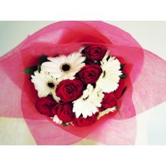 Bouquet Roses & Gerberas