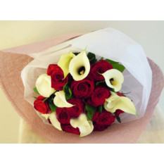 Bouquet Roses & Calla Lilies