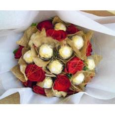 Bouquet Roses & Ferrero
