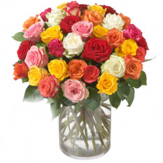 Bouquet de roses (36 roses) avec Fairtrade Max Havelaar-Roses - Big Blooms