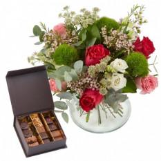 Fleurs de soleil et chocolats