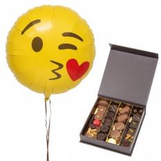 Ballons et chocolats bisous