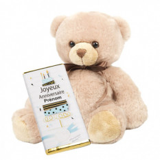 Tablette d'anniversaire personnalisée Teddy
