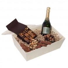 Mousseux avec des chocolats et du champagne (120G)