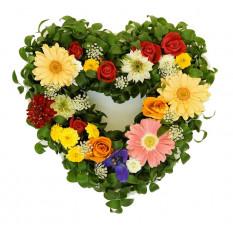 Coeur fleuri (petit)