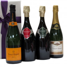 Four Top Bubbles Veuve Clicquot Gosset et E. Roussin
