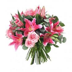 Bouquet de fleurs pour anniversaire (moyen)