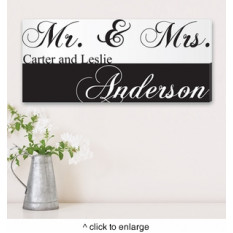 Personnalisé M. & Mme Couples Impression sur toile