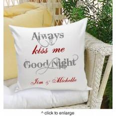 Toujours m'embrasser oreiller décoratif bonne nuit