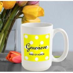 Tasse à café personnalisée à pois