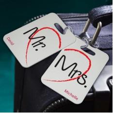 Étiquettes personnalisées de bagages de séjour de couples