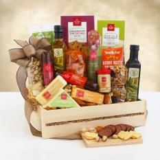 Panier-cadeau en bois Ultimate Meat & Cheese