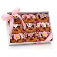 Twists bretzel trempé au chocolat de la fête des mères, clair Voir la boîte-cadeau de 9