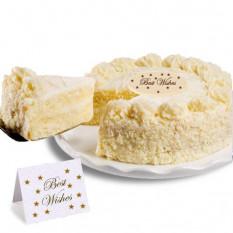 """Gâteau à la vanille """"Meilleurs voeux"""""""