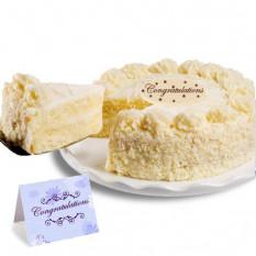 """Gâteau à la vanille """"Félicitation"""""""