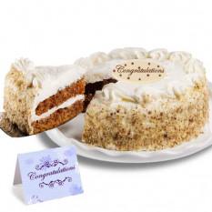 """Gâteau aux carottes """"Félicitation"""""""