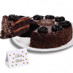 """Mousse au chocolat Torte """"Meilleurs voeux"""" Gâteau"""