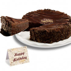 Birthday -Triple Chocolate Enrobed Brownie Cake