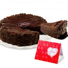 "Gâteau Brownie enrobé de chocolat triple - ""Valentine Day"""