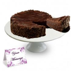 Gâteau Brownie enrobé de chocolat triple