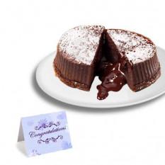 """Gâteaux au chocolat et à la truffe """"Félicitation"""""""