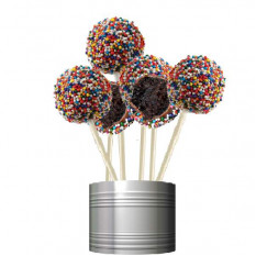 Cake Pops - Party Sprinkle Design (12 Pops)