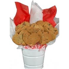 Bouquet de biscuits en forme de coeur en forme de pépites de chocolat