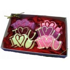"""Boîte à biscuits décorée à la main """"Je t'aime"""""""