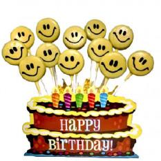 Joyeux anniversaire Smiley Faces