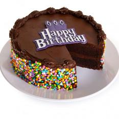 Gâteau d'anniversaire au chocolat (portions de 6 pouces)