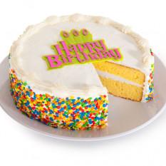 Gâteau de joyeux anniversaire à la vanille (portions de 6 pouces)