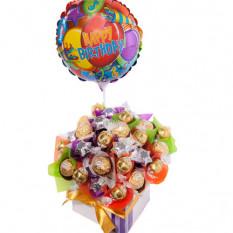 Souhaits d'anniversaire - Panier à chocolat