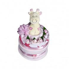 Gâteau Nappy bébé fille - panier bébé
