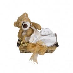 Ours au miel - Panier à bébé