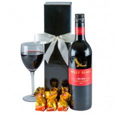 Panier à vin rouge robuste - vin rouge
